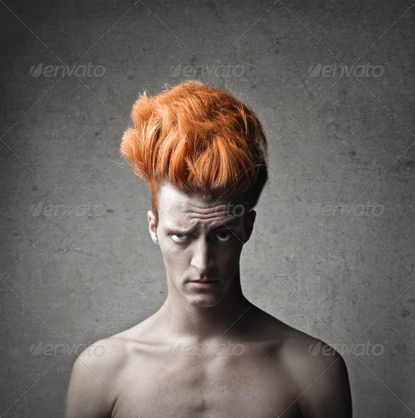 Strange Red Hair - Stock Photo - Images