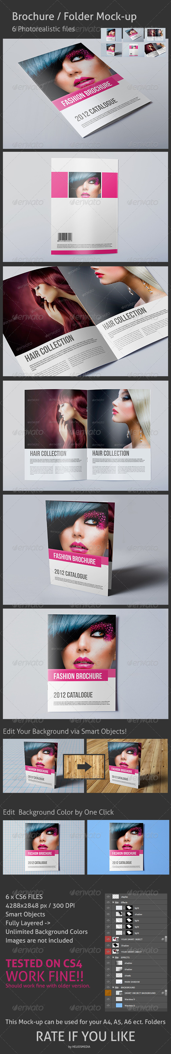 GraphicRiver Brochure Folder Mock-up 3458277