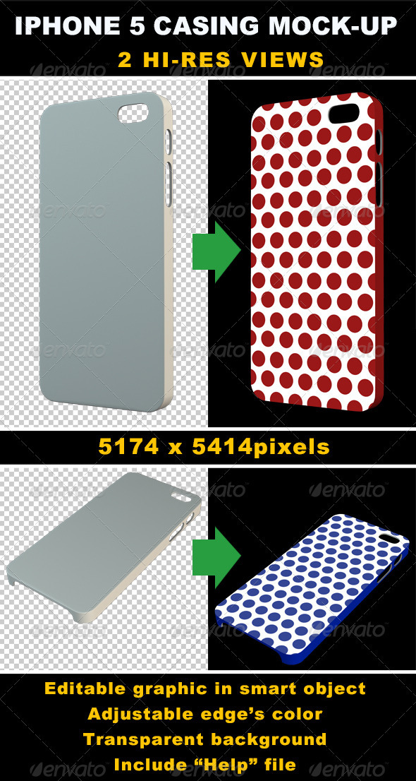 GraphicRiver Phone 5 Casing Mock-up 3458348