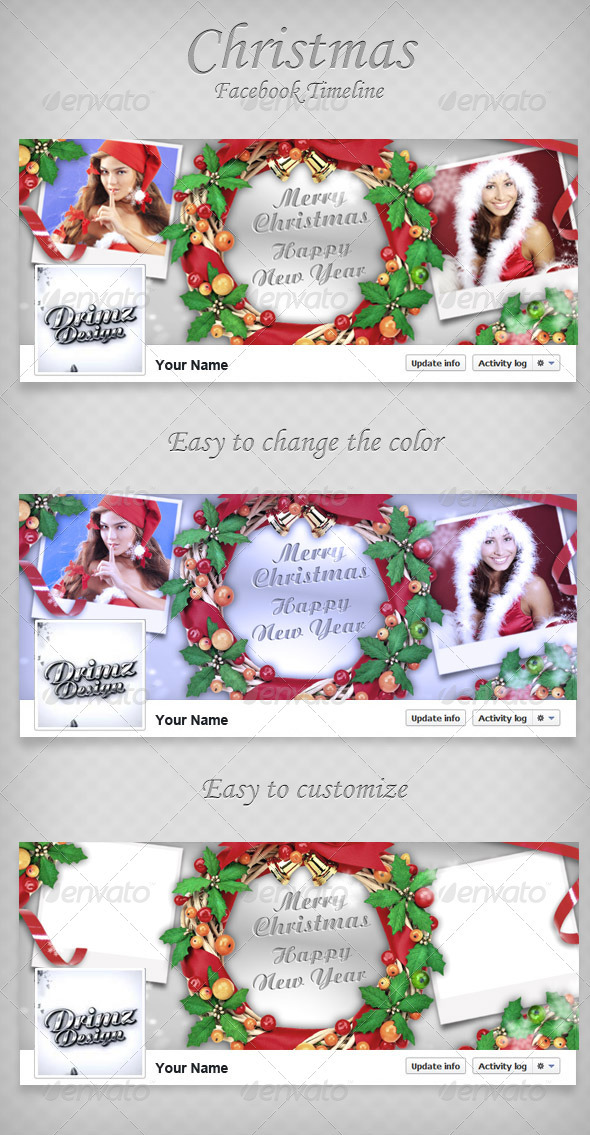 GraphicRiver Christmas FB Timeline 3458586