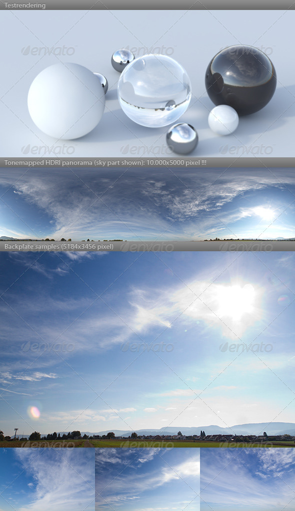 3DOcean HDRI spherical sky panorama 1052- sunny morning 3181978