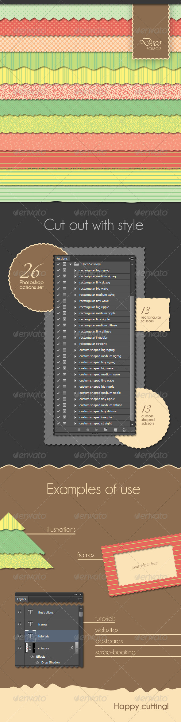 GraphicRiver 26 Deco Scissors Actions Set 3458681