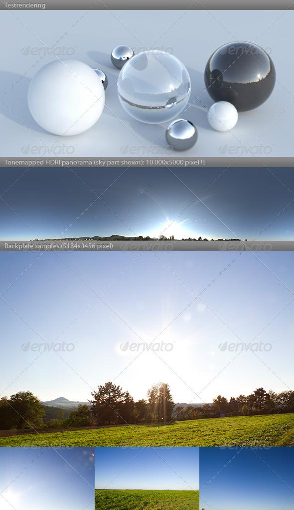 3DOcean HDRI spherical sky panorama 1720- clear sunny 3047893
