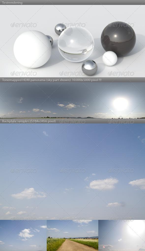 3DOcean HDRI spherical sky panorama 1654- summer sunny 2997331