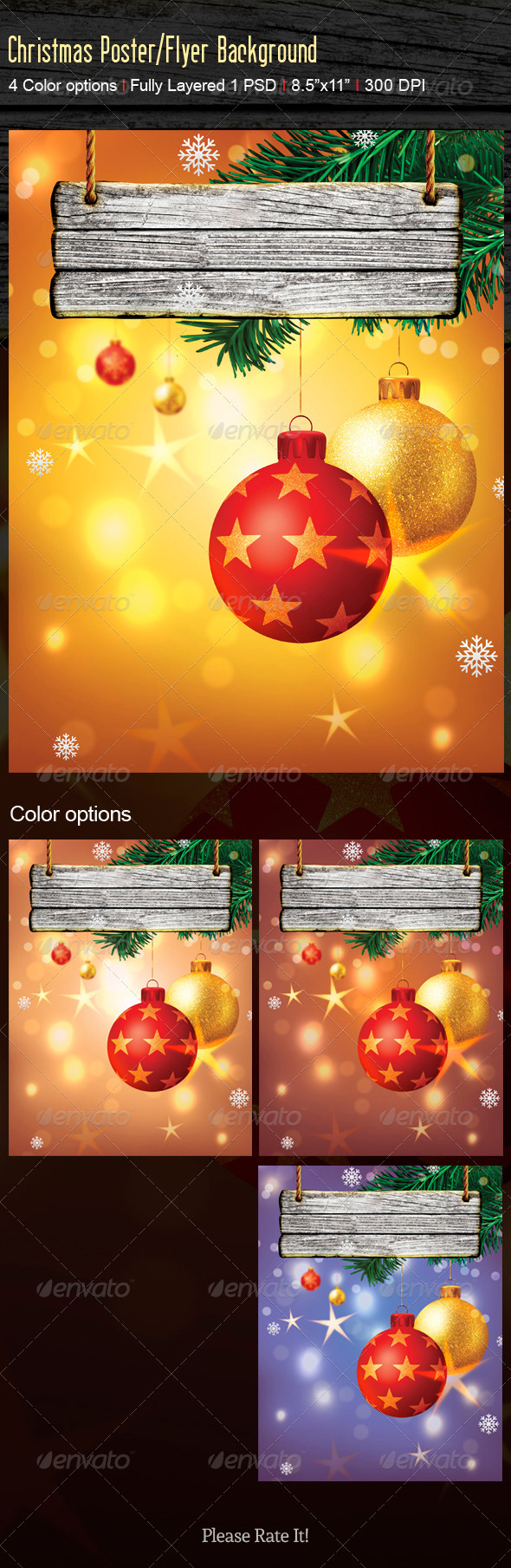GraphicRiver Christmas Flyer Beackground 3459164