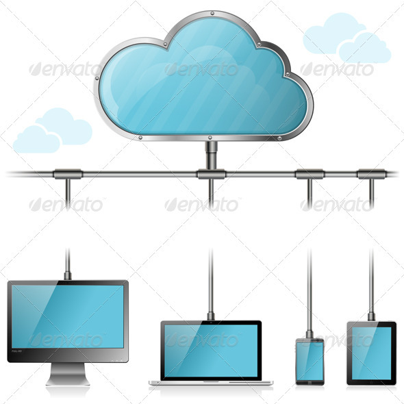 GraphicRiver Cloud Computing Concept 3415039