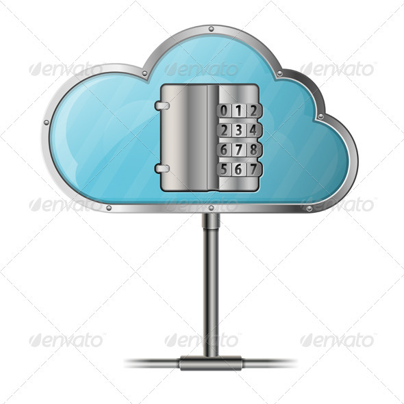 GraphicRiver Security Cloud Computing Concept 3415027