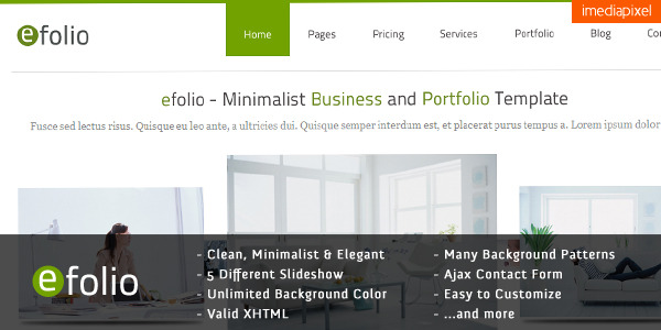 efolio - Business and Portfolio HTML Template