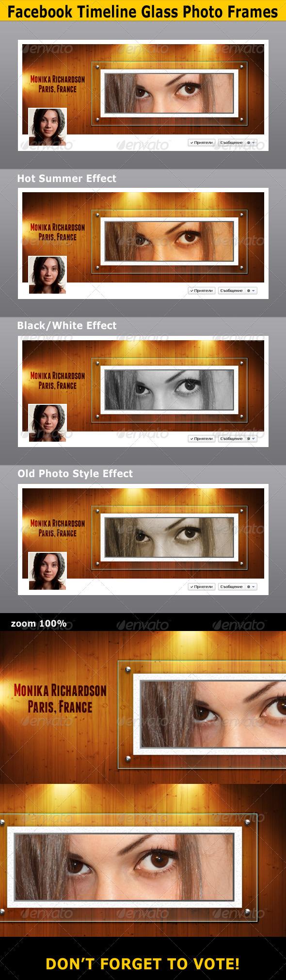 GraphicRiver FB Timeline Glass Photo Frames 3433923