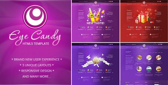 ThemeForest Eye Candy Responsive HTML5 Template 3459627