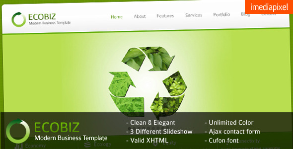 ThemeForest ECOBIZ Corporate and Business HTML Template 206339