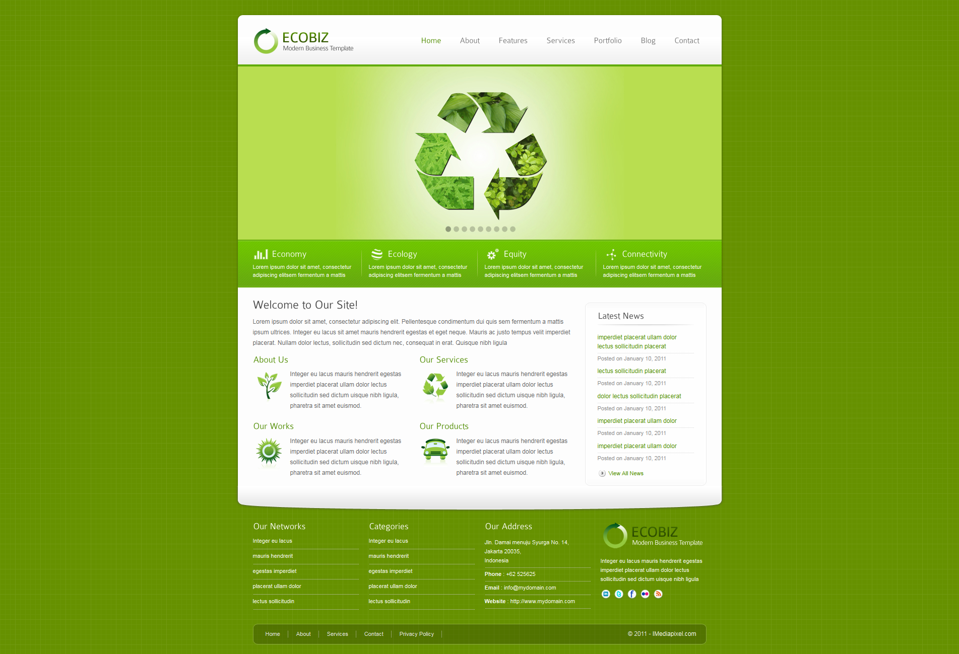 ECOBIZ - Corporate and Business HTML Template -