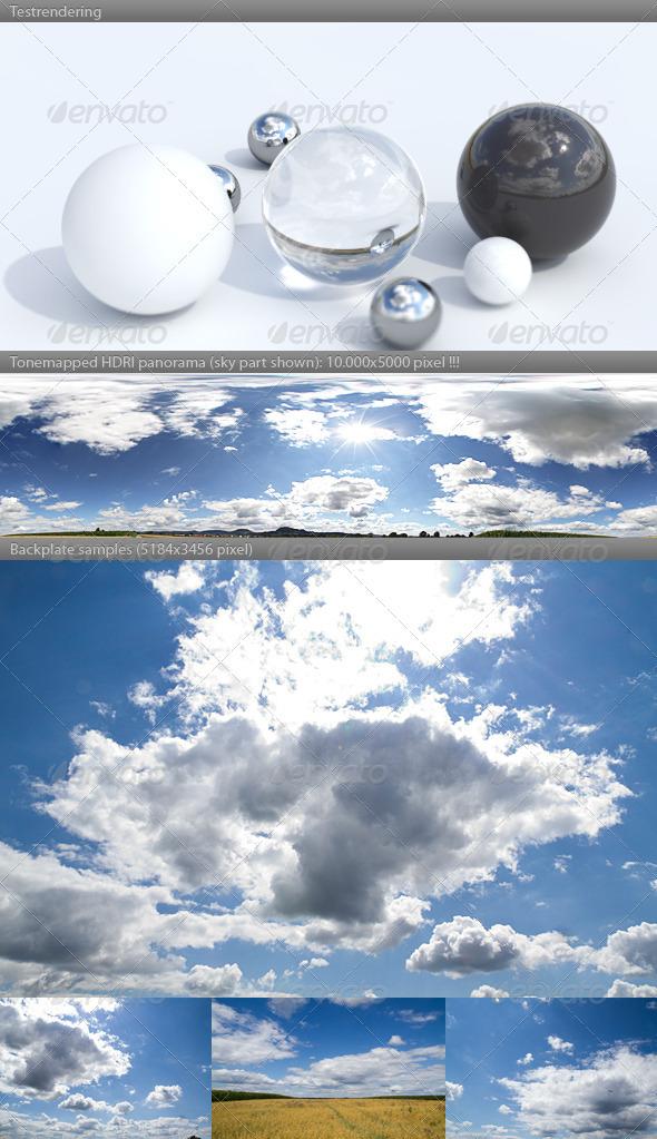 3DOcean HDRI spherical sky panorama 1439- sunny noon sky 2919726