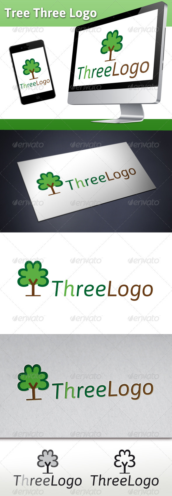 GraphicRiver Tree Three Logo 3414583