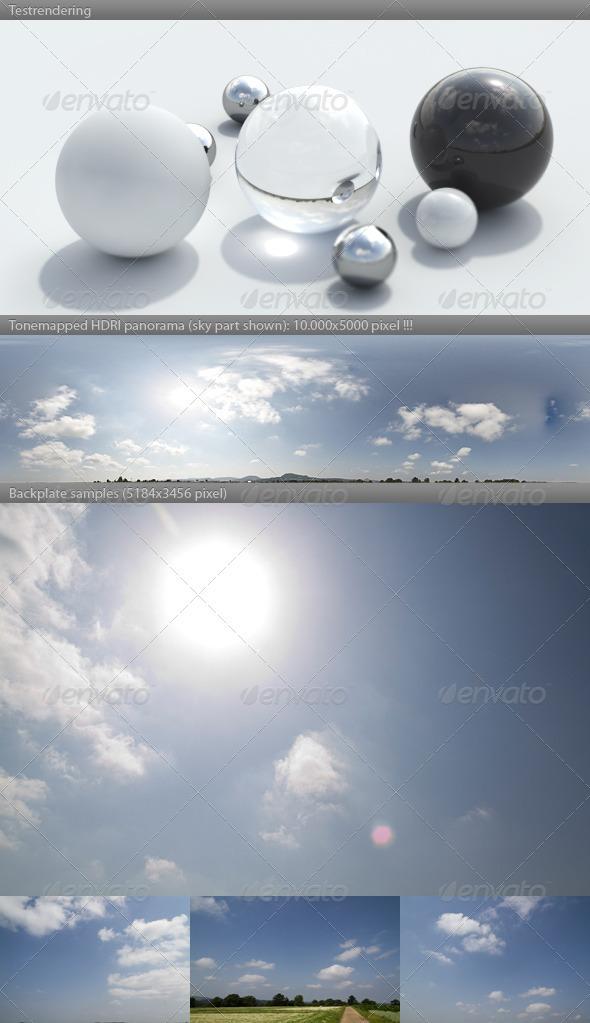 3DOcean HDRI spherical sky panorama 1050- sunny morning 2637671