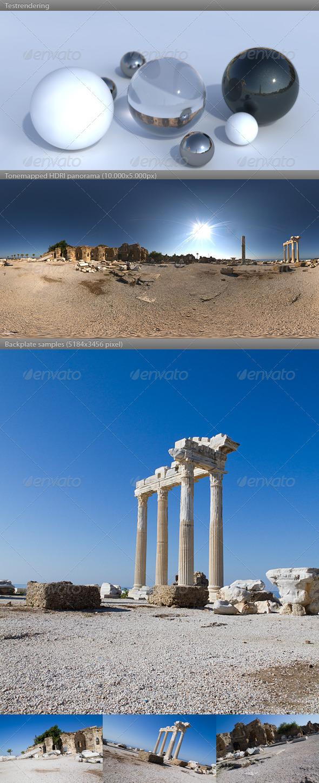3DOcean HDRI spherical panorama 0933- sunny Apollo Temple 668717