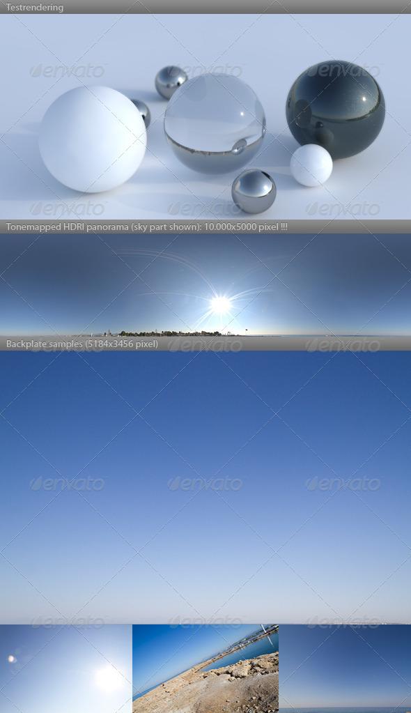 3DOcean HDRI spherical sky panorama 0858- sun clear sky 629499