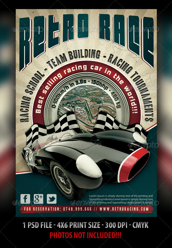 Auto Retro Flyer - Sports Events