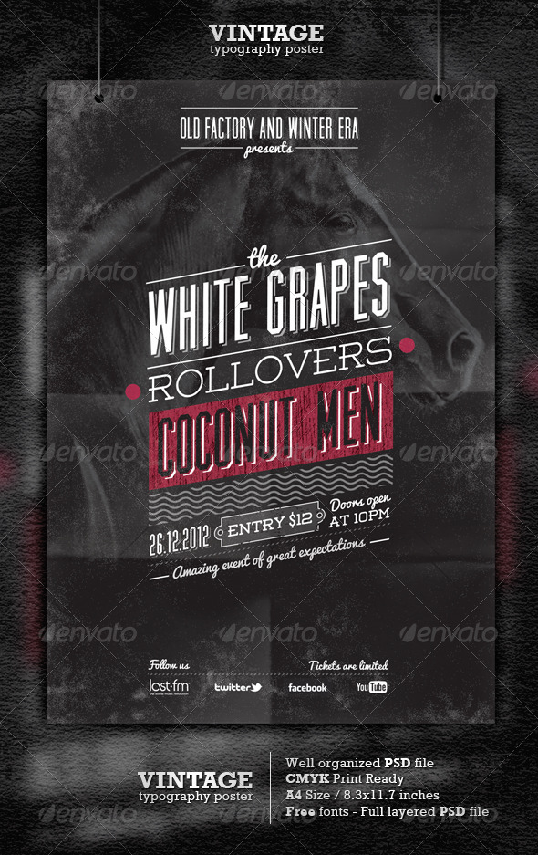 GraphicRiver Vintage Typography Poster Flyer 3460474