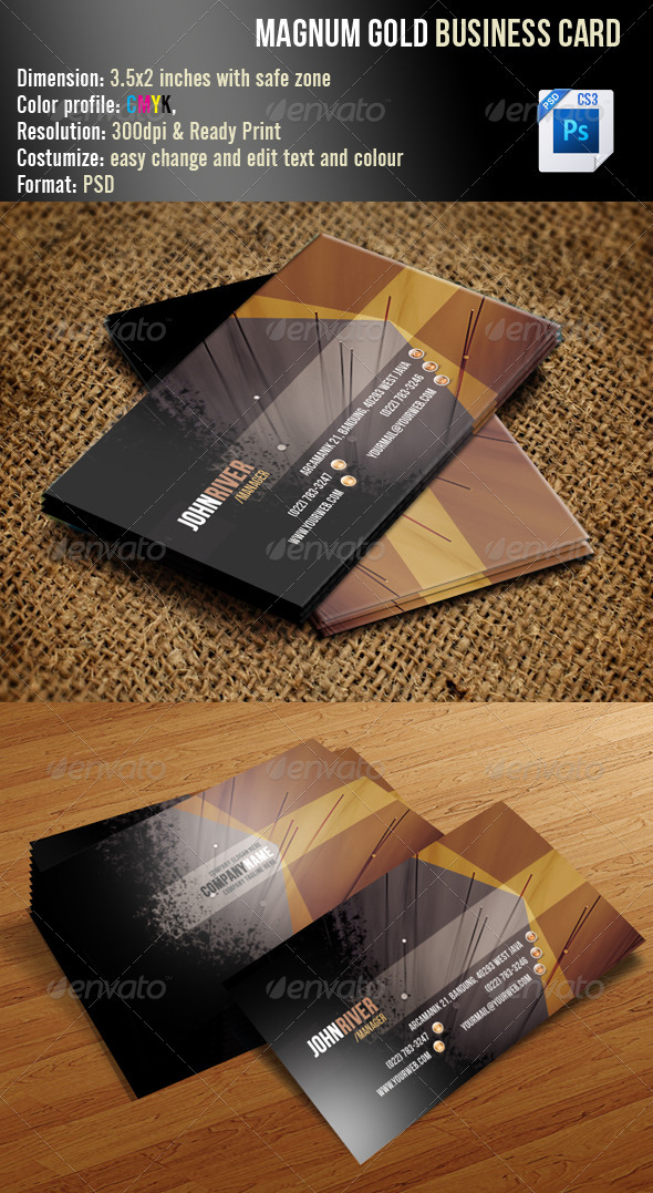 GraphicRiver Magnum Gold Business Card 3461461