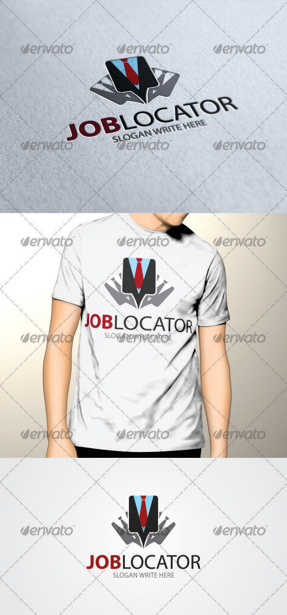 GraphicRiver Job Locator Logo Template 3461528