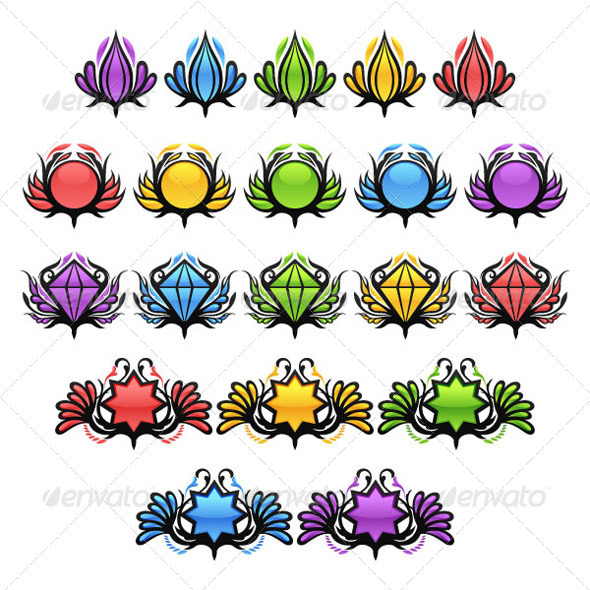 GraphicRiver Colorful Glossy Badges 3461734