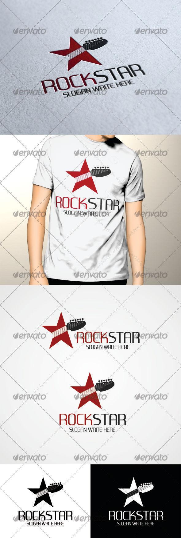 GraphicRiver Rock Star Logo Template 3437989