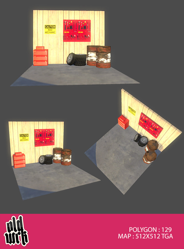 3DOcean Gearhead Set #1 3462001