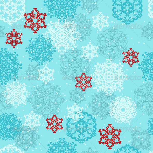 GraphicRiver Vector Seamless pattern with Snowflakes 3462218