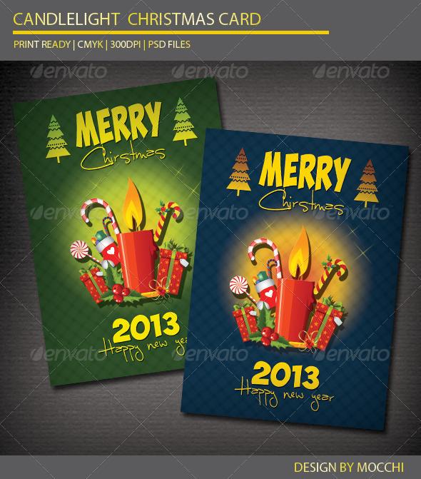 GraphicRiver Candlelight Christmas Card 3462539
