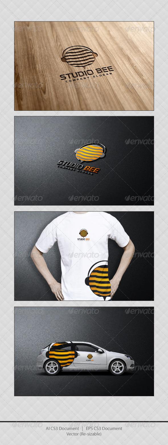 GraphicRiver Studio Bee Logo Templates 3462561