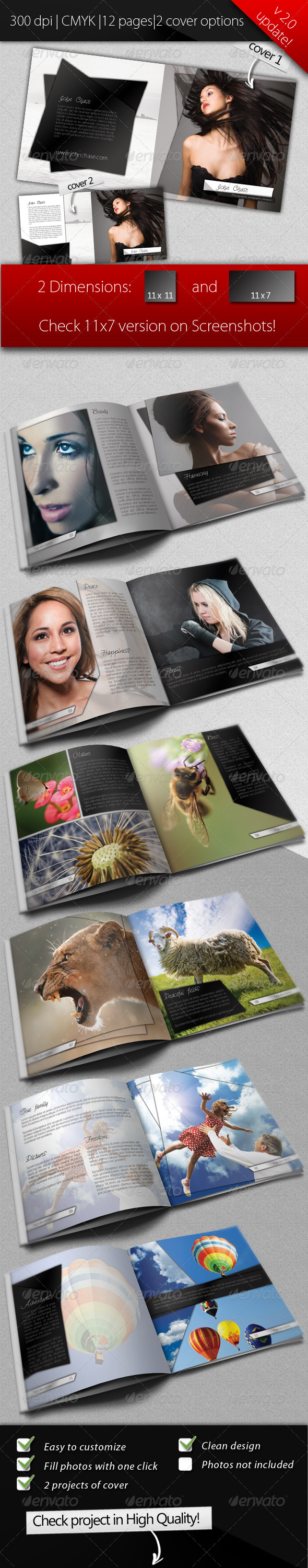 GraphicRiver Clean Modern Photo Album 3422371