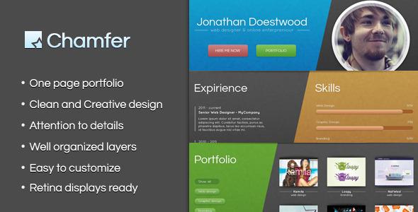 ThemeForest Chamfer One Page Creative Portfolio 3442917