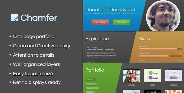 Chamfer - One Page Creative Portfolio