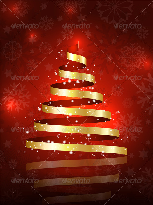 GraphicRiver Christmas tree background 3464167