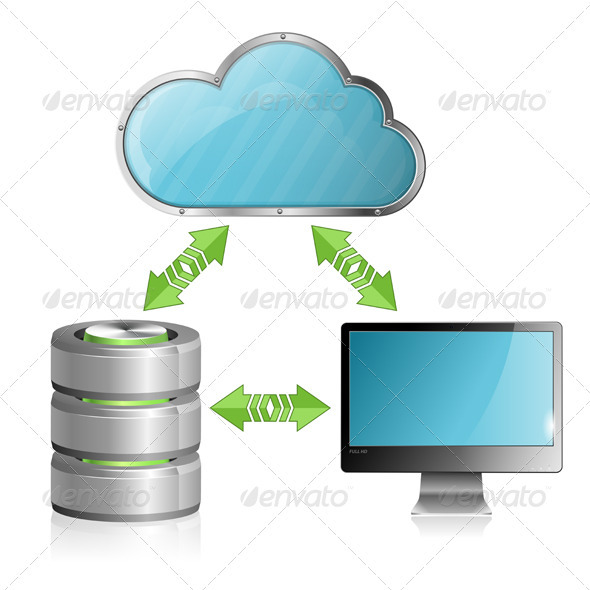 GraphicRiver Cloud Computing Concept 3464240