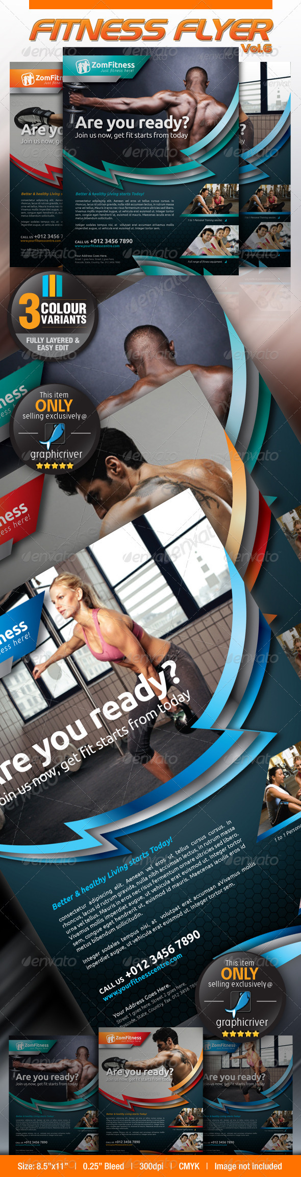 GraphicRiver Fitness Flyer Vol.6 3464266