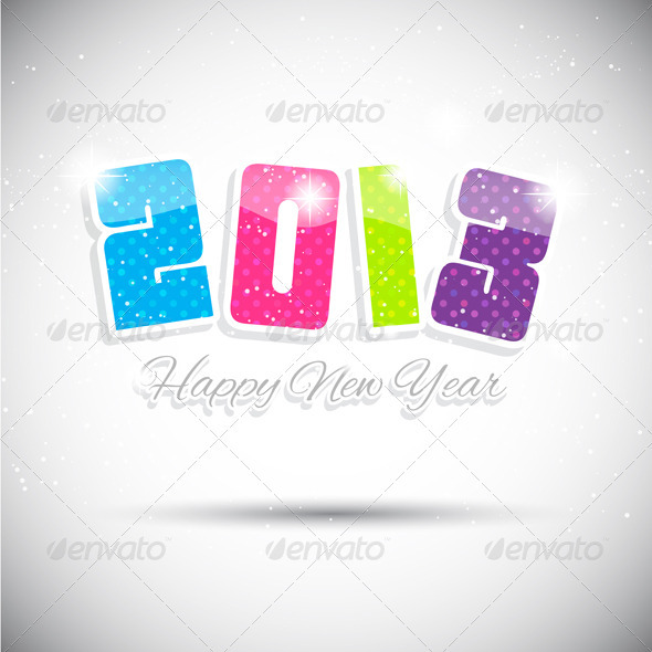 GraphicRiver Happy New Year Background 3464267