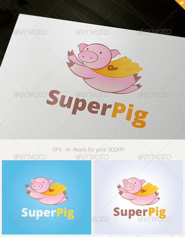 GraphicRiver Super Pig Logo 3456202