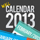 Wall Calendar 2013 - GraphicRiver Item for Sale