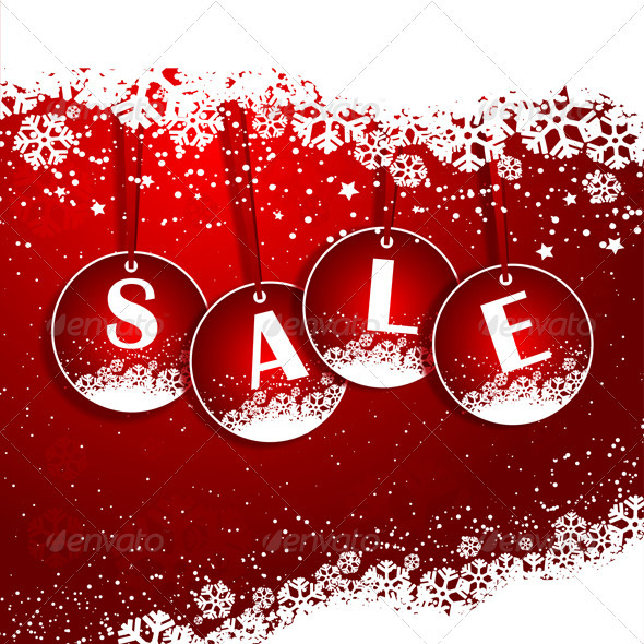GraphicRiver Christmas sale background 3465586