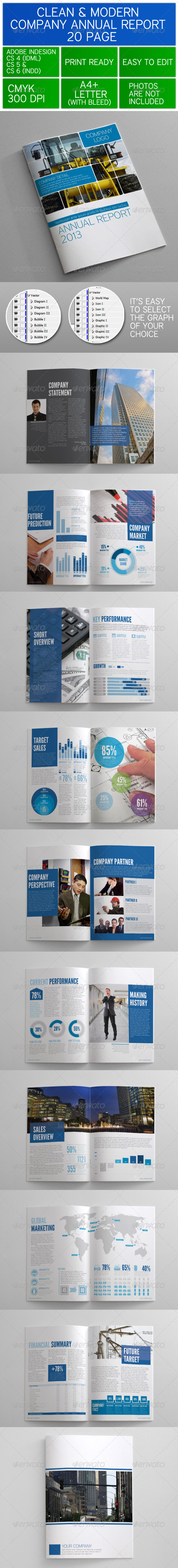 GraphicRiver Clean and Modern Company Annual Report 3465941