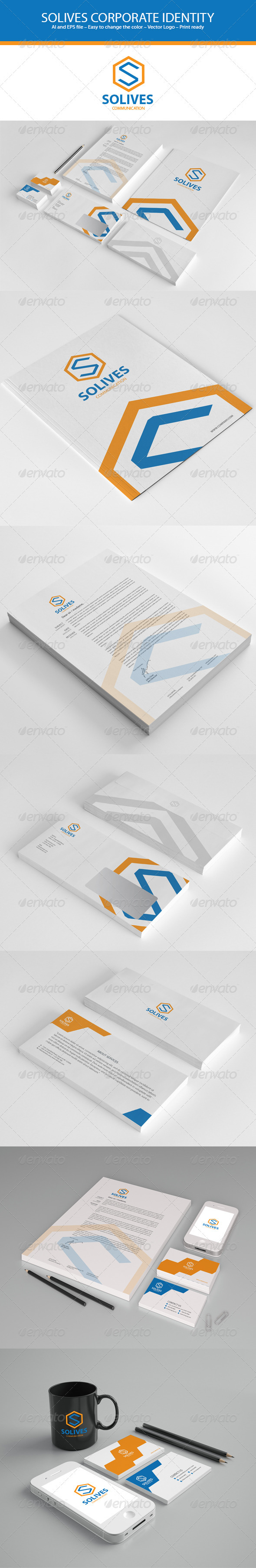 GraphicRiver Solives Communication Stationery 3466004