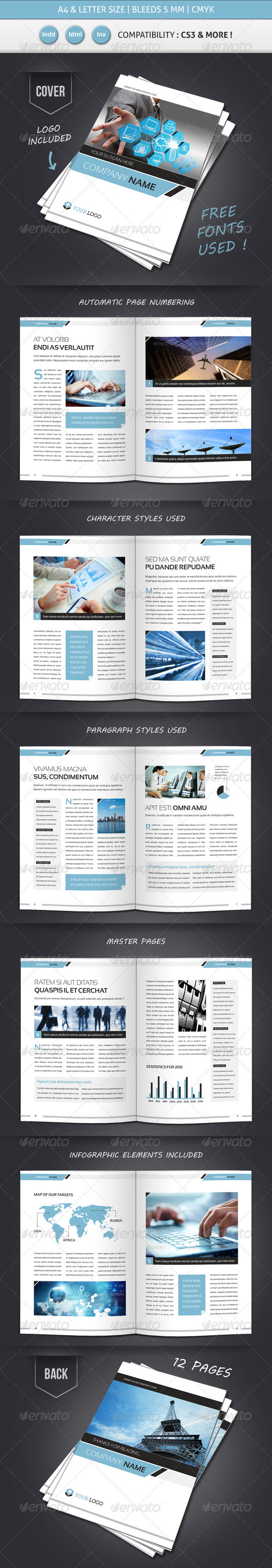 GraphicRiver Corporate & Business BROCHURE TEMPLATE A4 & Letter 3446657