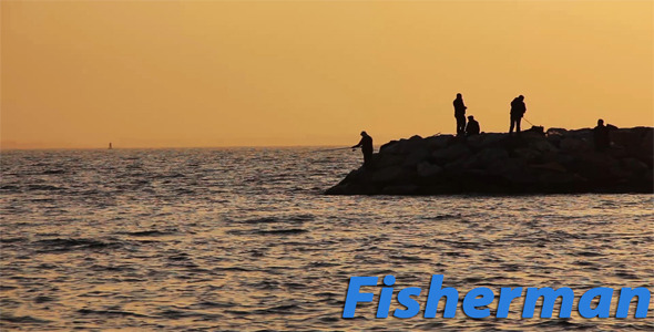 Fisherman And Sunset