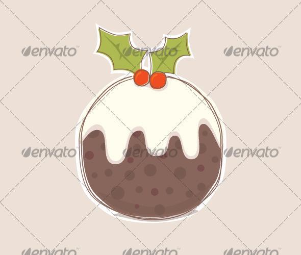 GraphicRiver Christmas Pudding 3422702