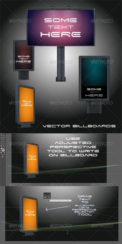 GraphicRiver Billboard in Perspective Vector 3415709