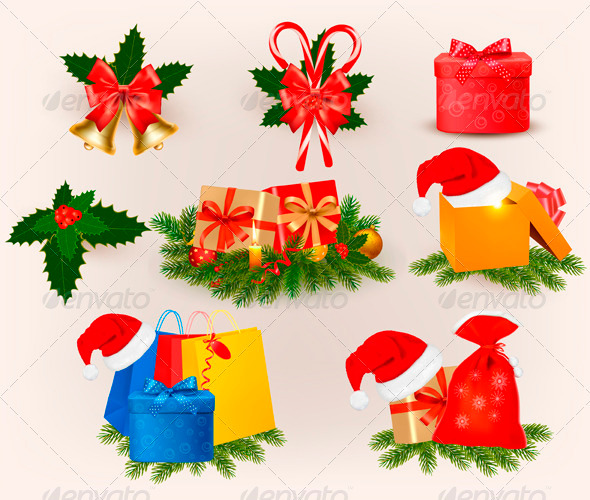 GraphicRiver Big Set of Christmas Icons and Objects 3435591