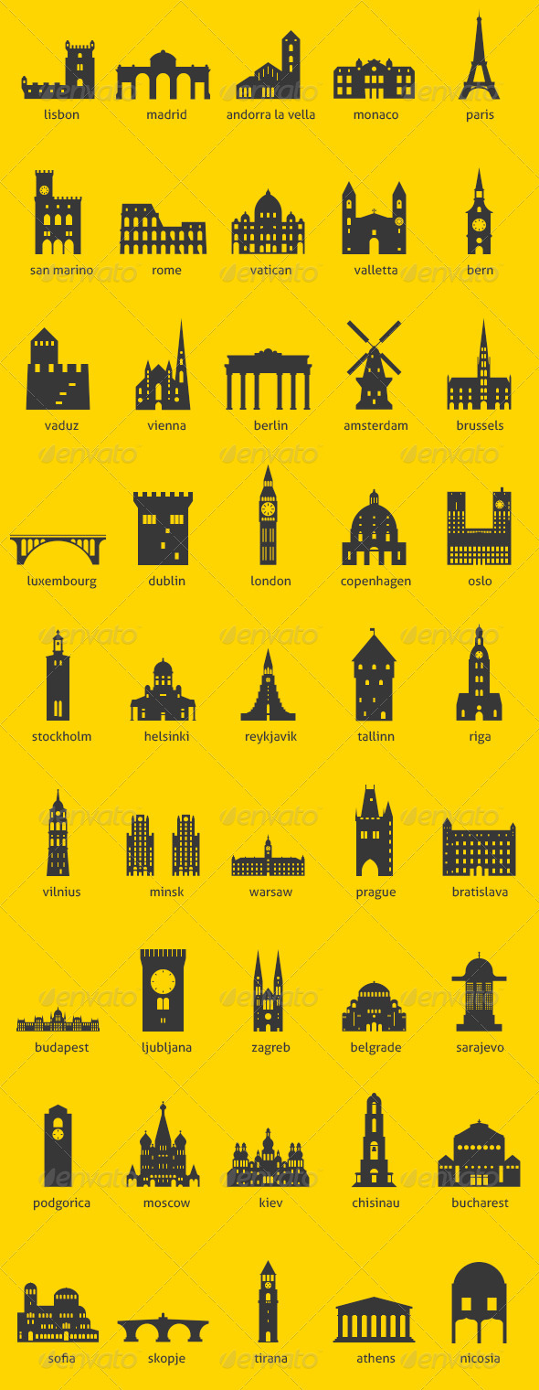 GraphicRiver European Capitals 3467688