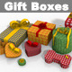 Gift Boxes Multi Shape Packages - 3DOcean Item for Sale